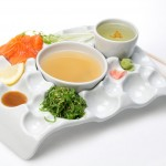 Random sushi tray and yunomi holder.