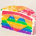 Rainbow Heart Layer Cake.
