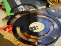 Creating music samples with vinyl records.