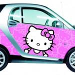 Hello Kitty x Smart Car.