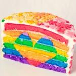 Rainbow Heart Layer Cake.