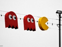 Pac-Man Gobbles Up Some Light Bulbs.